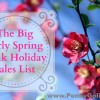 big early spring bank holiday sales list