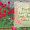 Spring Bank Holiday sales list late May 2015 Penny Golightly
