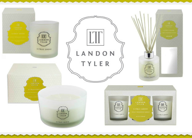 Review of Landon Tyler citrus grove home fragrance range scented candle reed diffuser