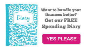 Free spending diary with newsletter