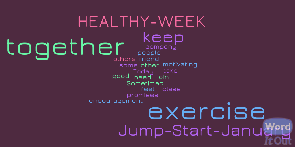 Jump Start January healthy week together friend