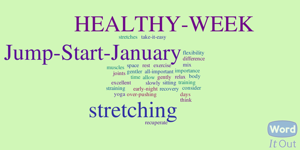 jump start january healthy week stretch