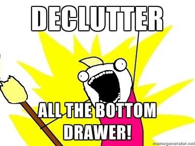 march spirng clean jump start bottom drawer