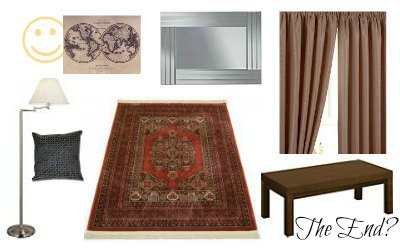 BBC Sherlock 221B Baker street style makeover living room lounge