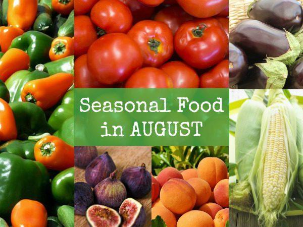 British seasonal food in August in season ingredients foods UK