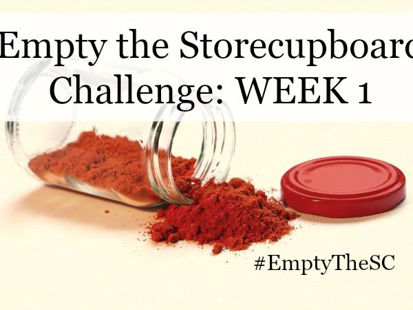 Empty the Storecupboard Challenge store cupboard food waste Penny Golightly Week 1 One roundup