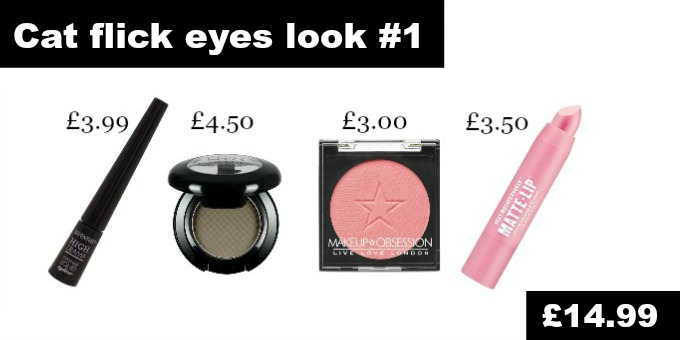 Catwalk makeup looks on a budget ss17 feline flick eyes cat flick eye drugstore dupes for less