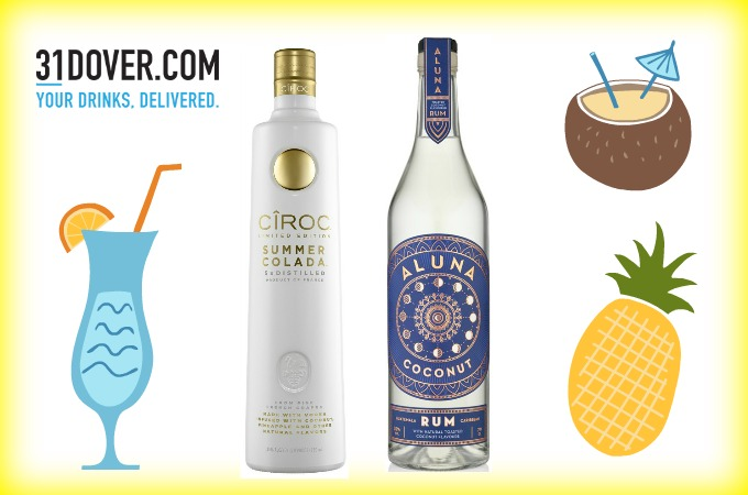 Ciroc Summer Colada vodka review Aluna coconut rum review World Cocktail Day