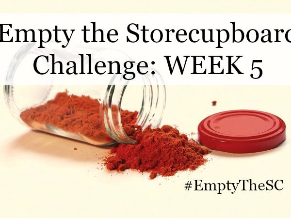Empty the Storecupboard Challenge store cupboard food waste Penny Golightly Week 5 Five roundup