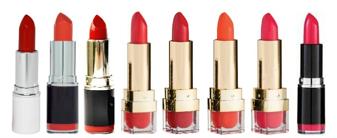 MUA Makeup Academy lipsticks high street drugstore designer dupes the bold lip look cheap lipstick