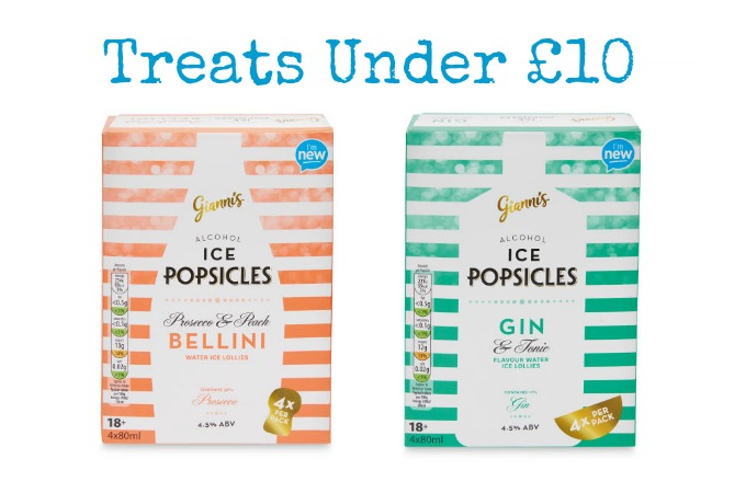 treats Under a tenner Aldi Alcohol Ice Popsicles review