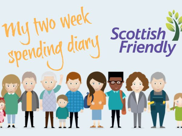 2 week spending diary and analysis with Scottish Friendly