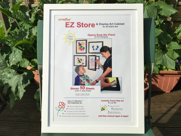 Review EZ Store My Lil Davinci picture frame display art cabinet
