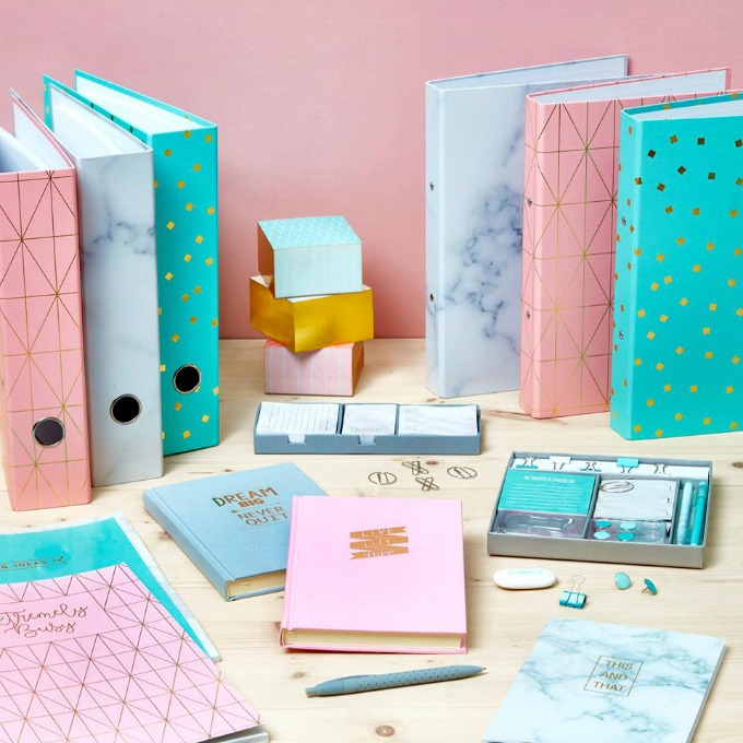 Poundworld stationery style collection