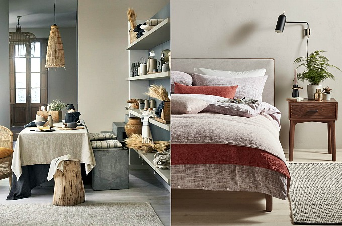 Home design decor AW17 budget designer looks Artisan Textures by H and M and John Lewis