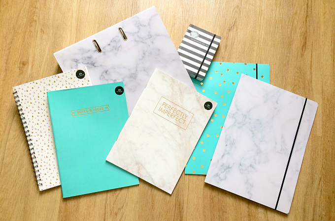 Poundworld stationery collection 2017 prices from 75p notebook journal folder diary