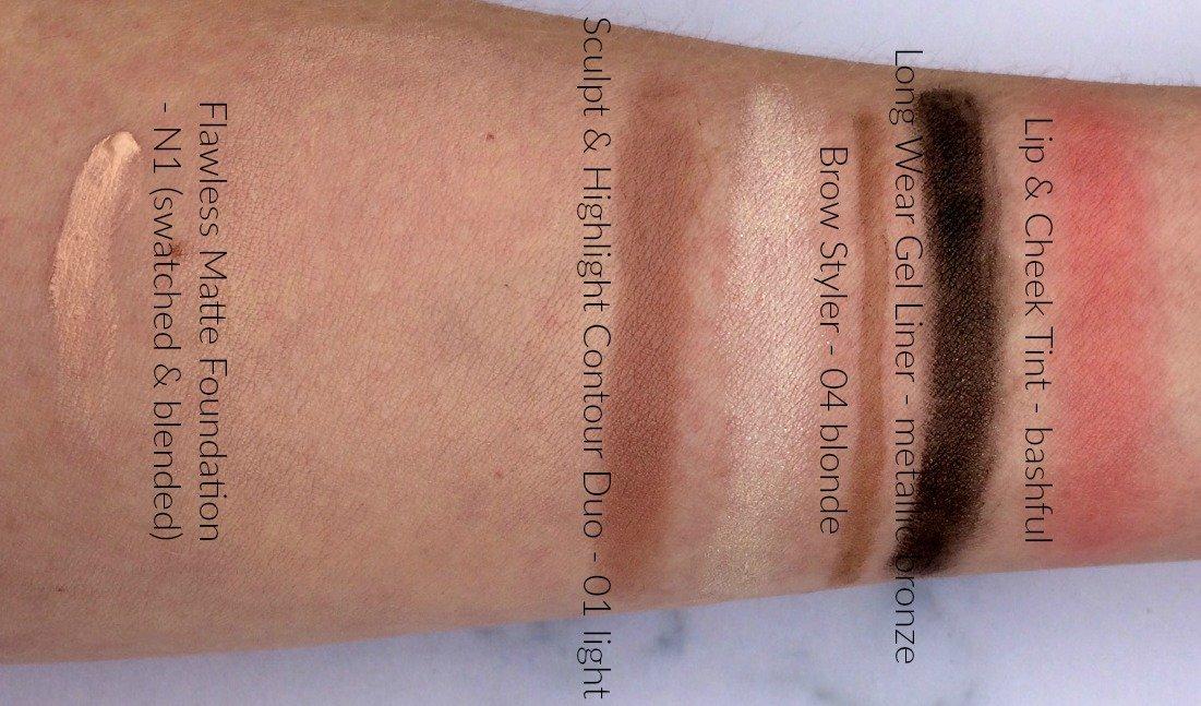 Superdrug B. makeup cosmetics swatches