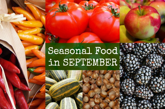 British seasonal food in September in season September UK ready to pick this month