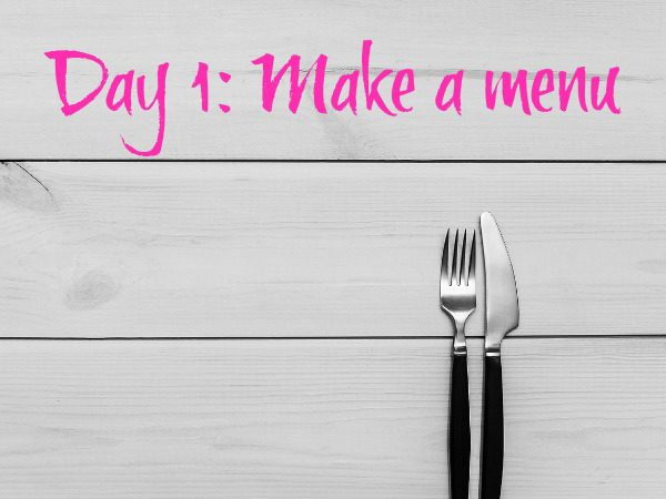 Tenner Week Sept 2017 Day 1 Make a menu tenner week £10 challenge