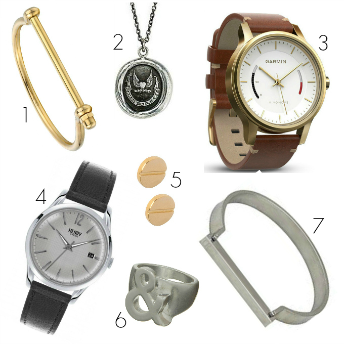Unisex gift guide Christmas 2017 jewellery watches rings earrings cuffs gender neutral ungendered