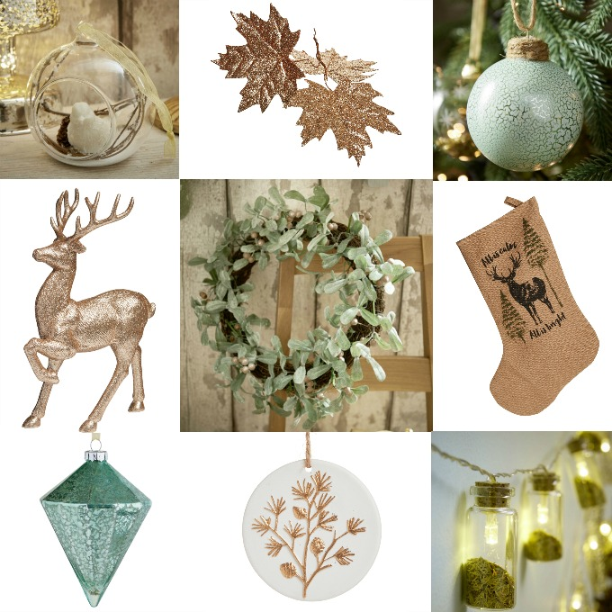 Thrifty Christmas Decorations Wilko S Rustic Glow Collection