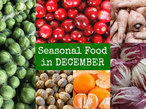 British Seasonal Food in December fruit veg in season uk