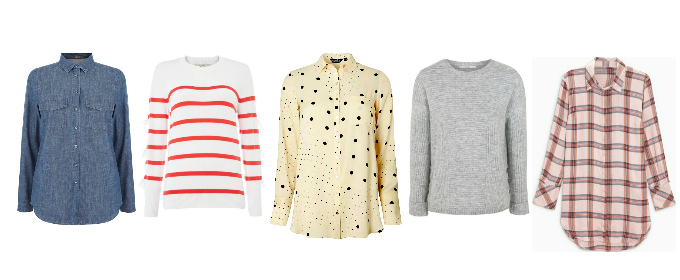 Penny Golightly capsule wardrobe early spring 2018 tops shirts blouses jumpers