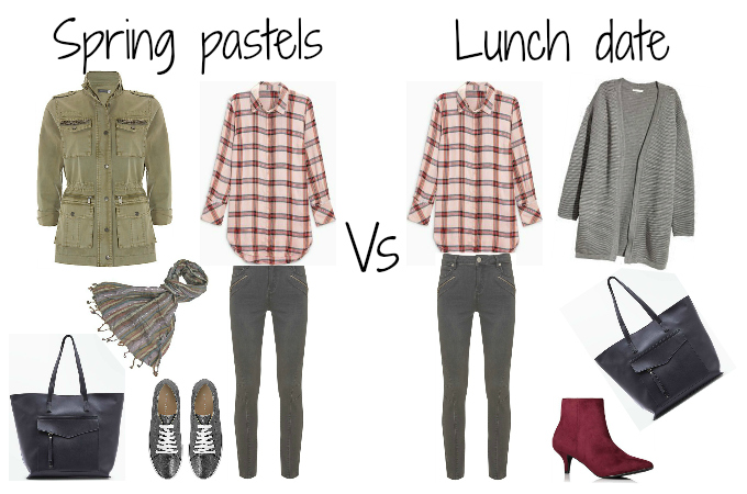 Penny Golightly capsule wardrobe ideas Spring 2018 pink shirt grey jeans