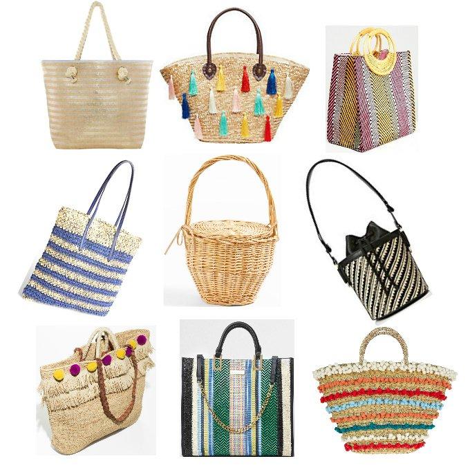 92af0b7e8d straw beach bag shopper basket bags wicker raffia designer dupes bargain  fashion