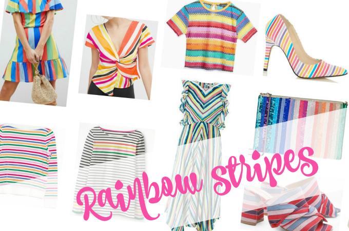 db72f81190 Catwalk to high street affordable fashion SS18 rainbow stripes trend