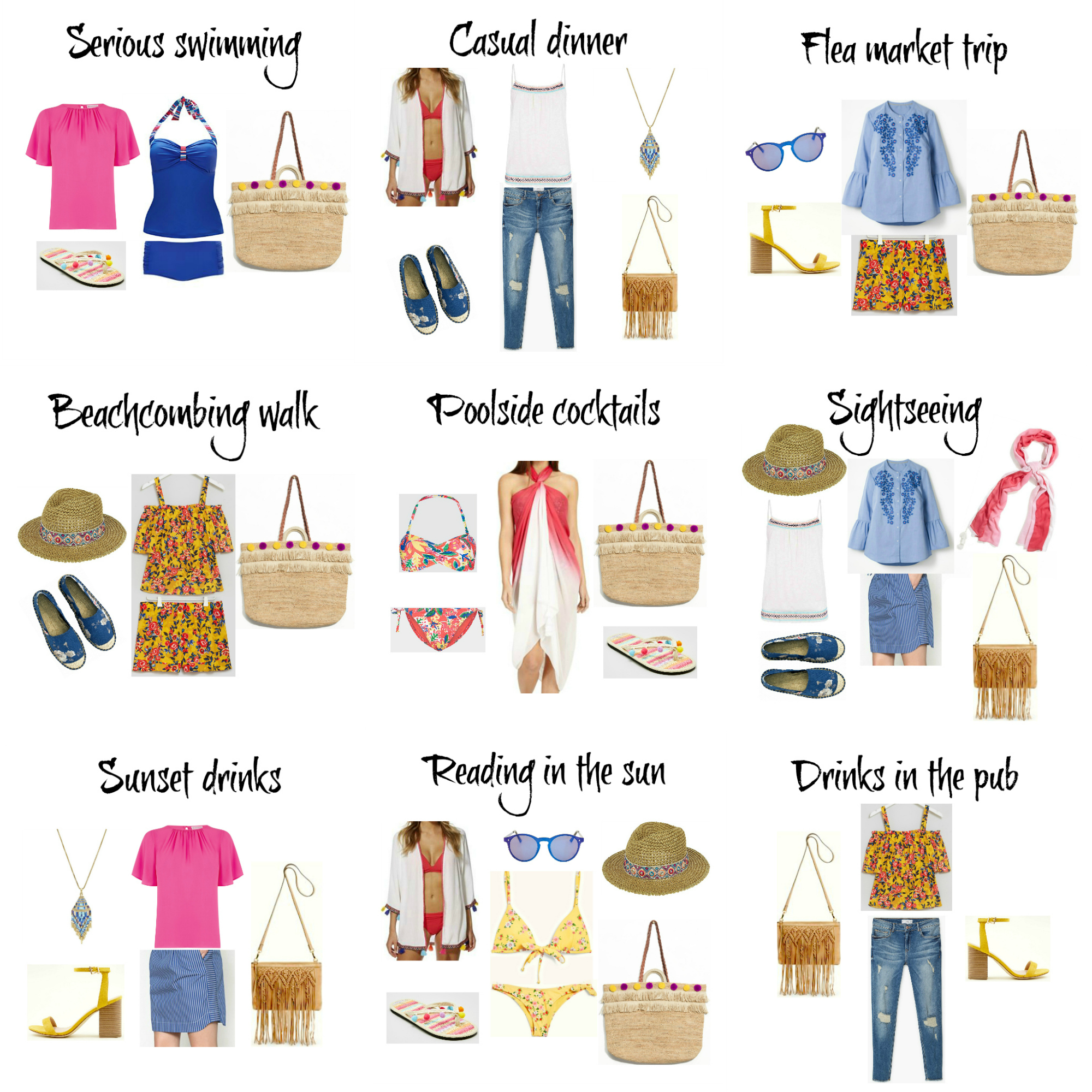 Summer capsule wardrobe outfit ideas holiday 2018 nine what to