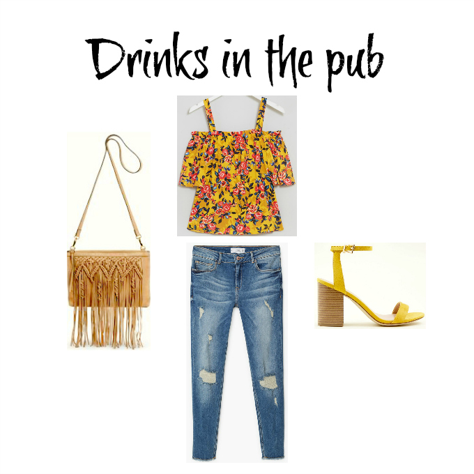 summer capsule wardrobe ideas holiday 2018 drinks in the pub